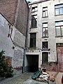 """BRUXELLES (Brussel) —Placard """"Réfugiés"""" - Immeuble du Comité d'Aide et d'Assistance aux Victimes de l'Antisémitisme en Allemagne.jpg"""