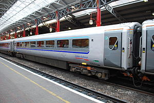 British Rail Mark 3 - Chiltern Railways Mark 3 with retrofitted plug doors at London Marylebone in August 2012