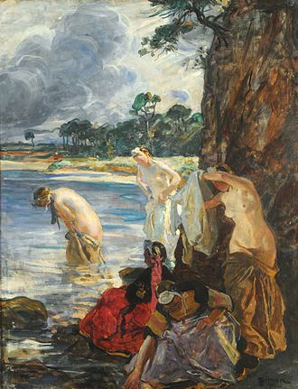Lucien Simon - Bañistas in the Argentine Museo Nacional de Bellas Artes