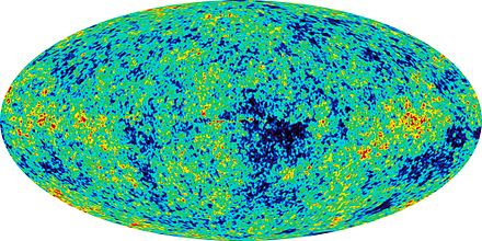1 year WMAP image of background cosmic radiation (2003). Baby Universe.jpg