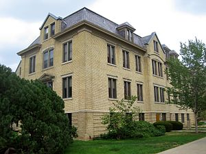 Badin Hall (University of Notre Dame) - Badin Hall on South Quad