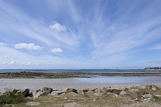 Carnac - View of the Quiberon Bay from one of the Carnac beaches.