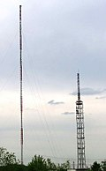 Radio towers in Balashiha, Russia