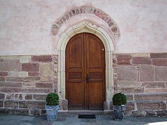 Église protestante de Balbronn - Image: Balbronn Temple 02