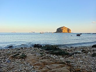 Bangchuidao Island is an islet composed mostly of rock, in Dalian, Liaoning Province, China. Bangchuidao Island.JPG
