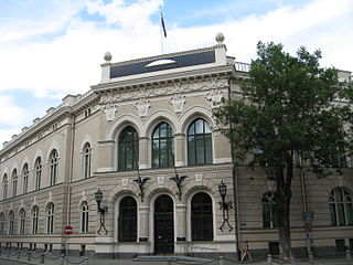 The central bank of Latvia, established in 1922
