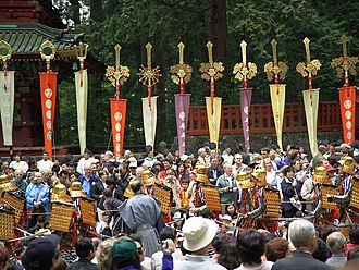 Military communication in feudal Japan - Banners at the Procession of a Thousand Warriors, Nikkō Tōshō-gū