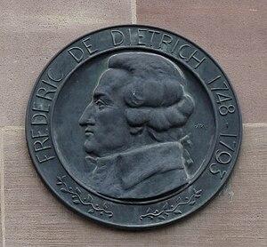 Philippe Friedrich Dietrich - Dietrich by Alfred Marzolff, plaque on Place Broglie