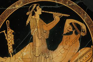 Ancient music - Symposium scene, c. 490 BCE