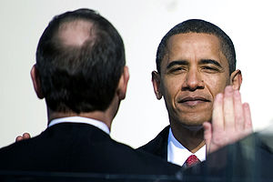 President Barack Obama takes the oath of offic...