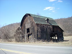 An old barn in Covington Township