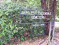 Bartlett-Ellendale Cemetery Bartlett TN sign 1.jpg