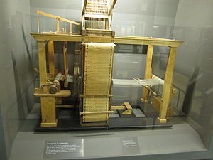 Basile Bouchon - Basile Bouchon 1725 loom on display at the Musée des Arts et Métiers, Paris.