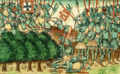 Batalha de Aljubarrota - Chroniques de Froissart (Holanda, c. 1450-1460).png
