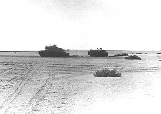 Battle of the Chinese Farm - Israeli armor knocked out near the Lexicon-Tirtur Junction.
