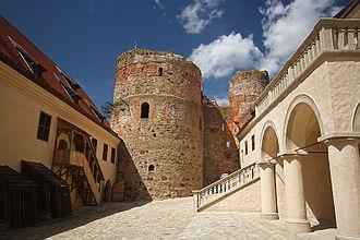 Bauska Castle - Castle courtyard in 2015