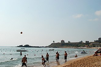 Sport in Lebanon - Beach volleyball in Byblos