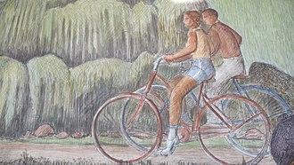 Beach Chalet - Image: Beach Chalet murals (3905185459)