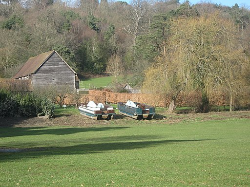 Beached boats, Groombridge House - geograph.org.uk - 1736671