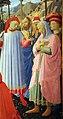Beato angelico, pala strozzi della deposizione, con cuspidi e predella di lorenzo monaco, 13.JPG