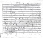 Partition autographe de la neuvième Symphonie