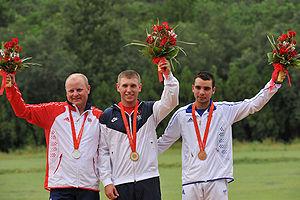 Shooting at the 2008 Summer Olympics – Men's skeet - Image: Beijing Skeet Medalists