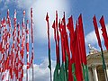 Belarusian Flags and Facade - Outside Palace of the Republic - Minsk - Belarus - 03 (26937175914).jpg