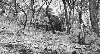 Siege of Saïo - Image: Belgian truck on rough Ethiopian terrain