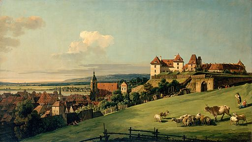 Bellotto, Bernardo - View of Pirna from the Sonnenstein Castle