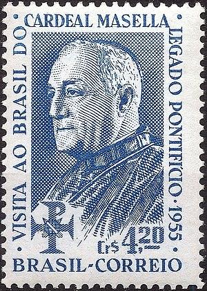 Benedetto Aloisi Masella - Image: Benedetto Aloisi Masella 1955 Brazil stamp