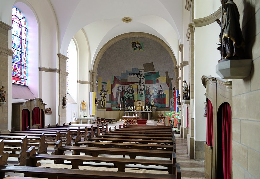 Berdorf (Grand Duchy of Luxembourg): interior of St John's church