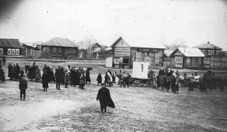 Berdsk - Berdsk village center in 1920s