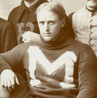 1896 Michigan Wolverines football team - Left guard Bert Carr from Cedar Springs, Michigan