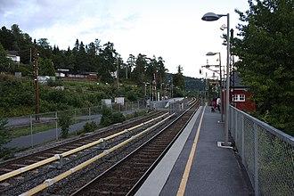 Besserud (station) - Image: Besserud T banestasjon