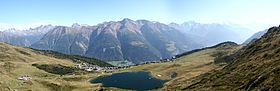 Panorama de Bettmeralp et du Bettmersee