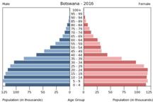 Botswana-Demographics-Bevölkerungspyramide Botswana 2016