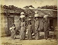 Bheel women Carrying water on their head, Kathiawar in the 1880s.jpg