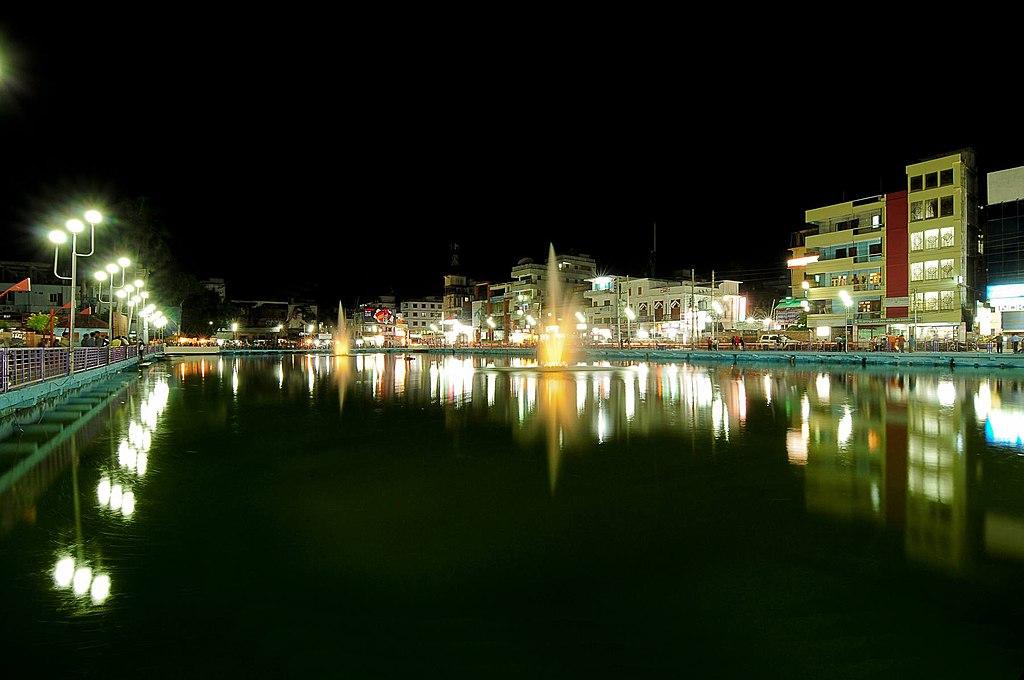 Bibir Pukur Barisal at night.jpg