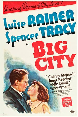 Big City (1937 film) - Theatrical release poster