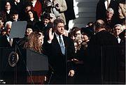 Bill Clinton taking the oath of office, 1993