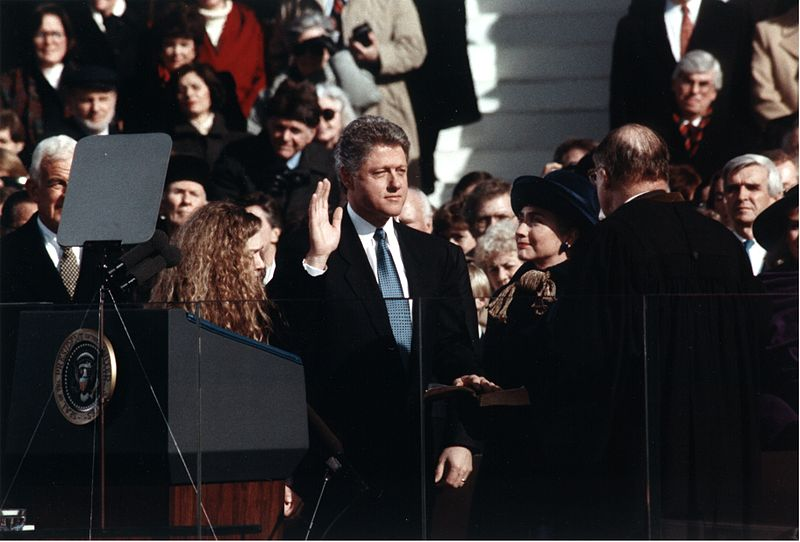 File:Bill Clinton taking the oath of office, 1993.jpg