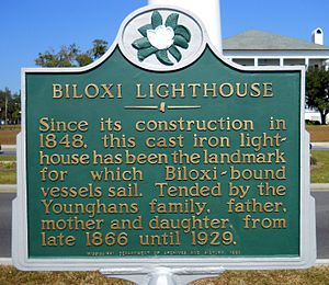 Biloxi Light - Historical Marker
