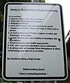 Binsfeld (Speyer), Schild mit Auszug aus der Landschaftschutzgebietsverordnung.jpg