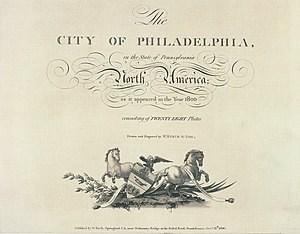 Birch's Views of Philadelphia - Image: Birch's Views Title Page