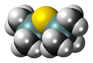 Bis(trimethylsilyl)sulfide - Image: Bis(trimethylsilyl)s ulfide 3D spacefill