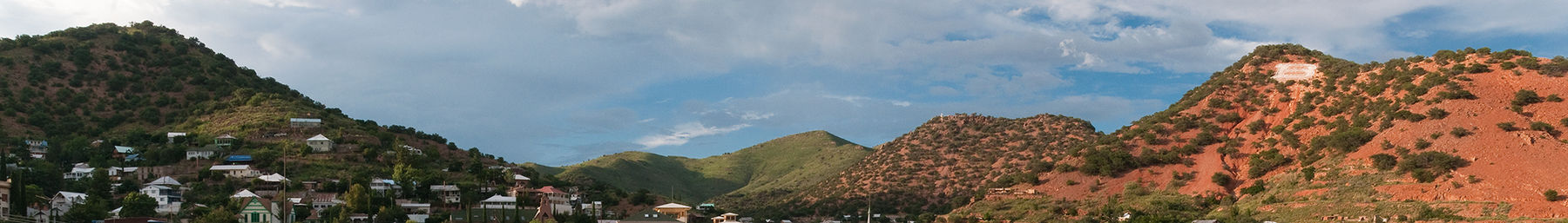 View of old Bisbee and Chihuahua Hill
