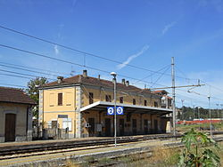 Rail station of Bistagno.
