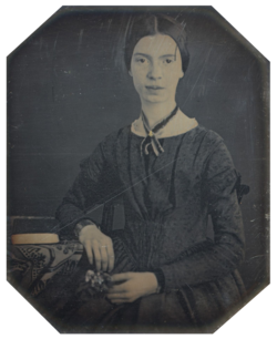 Black white photograph of emily dickinson2