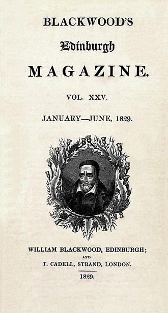 William Mudford - Mudford was a frequent contributor to Blackwood's Edinburgh Magazine