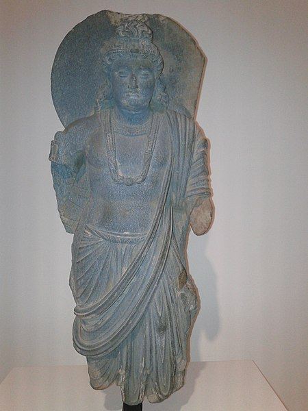 File:Bodhisattva from Pakistan-Afghanistan 2nd century carving.jpg